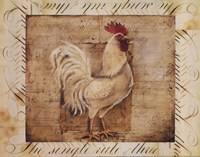 Rustic Farmhouse Rooster I - Mini Fine-Art Print