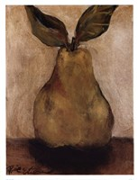 Golden Pear On Beige Fine-Art Print