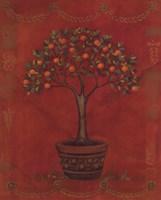 Topiary Fresco Orange Fine-Art Print