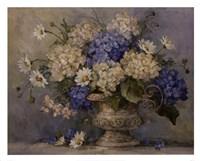 Blue and White Delight Fine-Art Print