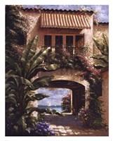 Tropical Villa I Fine-Art Print