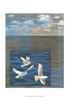 Three White Gulls I Fine-Art Print