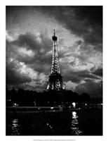 Nuit Orageuse Au Tour Eiffel Giclee