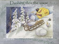 Dashing Thru The Snow Fine-Art Print
