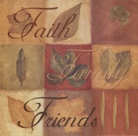 Faith Family Friends - square Fine-Art Print