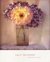 Dahlia With Hydrangeas I Fine-Art Print