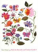 Bella The Butterfly And Garden II Fine-Art Print