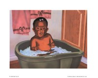 Bath Time Girl Fine-Art Print