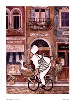 Chef On Bike Fine-Art Print