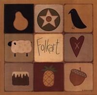 Folk Art Patch Fine-Art Print