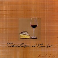 Wine Cheese I Fine-Art Print
