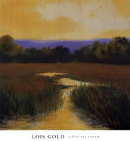 Yellow Sky Stream Fine-Art Print