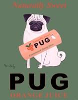 Pug Orange Juice Fine-Art Print