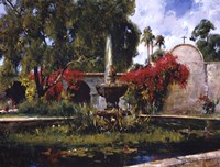 Fountain At San Juan Capistrano Fine-Art Print