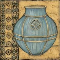 Square Cerulean Pottery I Fine-Art Print