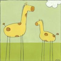 Stick-Leg Giraffe I Fine-Art Print