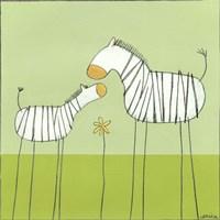 Stick-Leg Zebra II Fine-Art Print