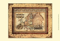 Crackled Map Of Europe Fine-Art Print