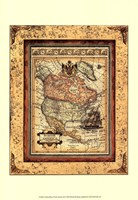 Crackled Map Of North America Fine-Art Print