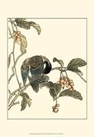 Oriental Bird On Branch IV Fine-Art Print