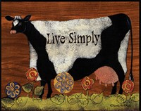 Live Simply Cow Fine-Art Print
