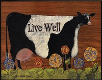 Live Well Cow Fine-Art Print