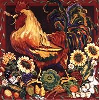 Rooster Harvest Framed Print