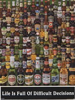 Beer Bottles Wall Poster