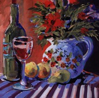 Red Wine And Table Fine-Art Print