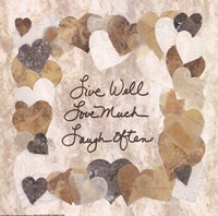 Live Well, Love Much, Laugh Often Fine-Art Print