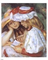 Duex jeunes filles lisant Fine-Art Print