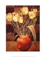 Checkered Tulips I Fine-Art Print