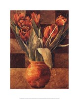Checkered Tulips II Fine-Art Print