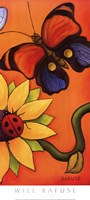 Butterfly and Ladybug Fine-Art Print
