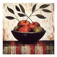 Fruit Bowl on Silk Fine-Art Print