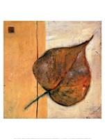 Leaf Impression - Ochre Fine-Art Print