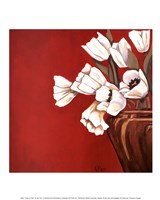 Tulips on Red Fine-Art Print