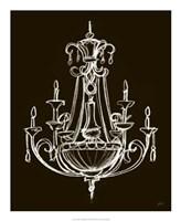 Elegant Chandelier III Giclee