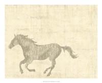 Vintage Horse II Giclee