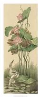 Crane And Lotus Panel I Giclee