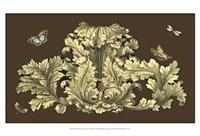 Small Nature's Splendor On Chocolate I Fine-Art Print
