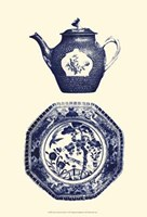 Manor Porcelain In Blue I Fine-Art Print