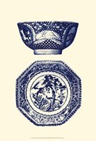 Manor Porcelain In Blue II Fine-Art Print