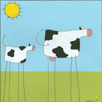 Stick-Leg Cow I Fine-Art Print