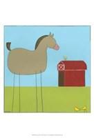 Stick-Leg Horse I Fine-Art Print