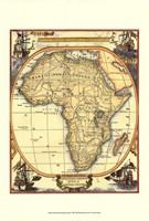 Small Nautical Map Of Africa Fine-Art Print