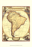 Small Nautical Map Of South America Fine-Art Print