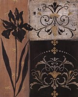 Iris Silhouette - black flower Fine-Art Print