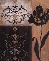 Tulip Silhouette - black flower Fine-Art Print