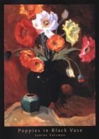 Poppies in Black Vase Fine-Art Print